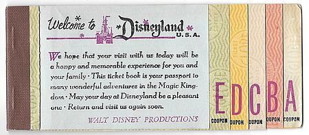 Disney Ticket Book Image